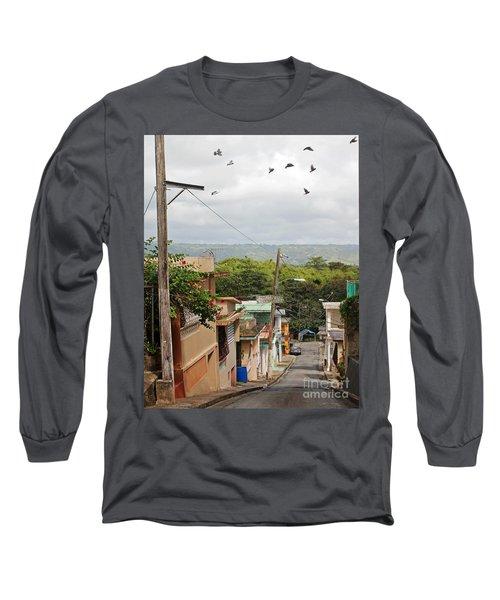 Birds Over Yabucoa Long Sleeve T-Shirt