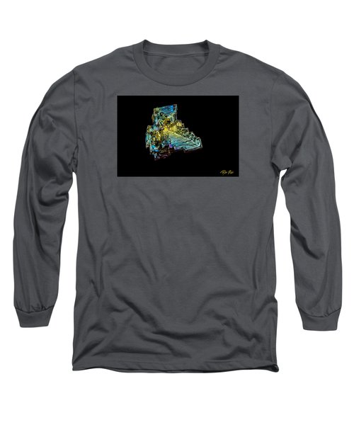 Long Sleeve T-Shirt featuring the photograph Bismuth Crystal by Rikk Flohr
