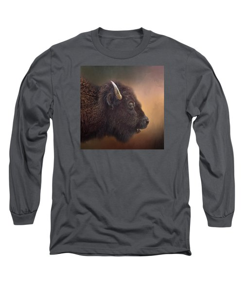 Bison Long Sleeve T-Shirt by David and Carol Kelly