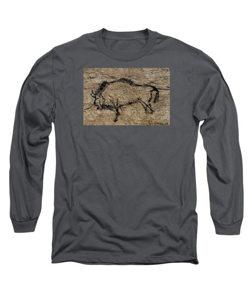 Bison From Niaux Cave Long Sleeve T-Shirt by Dragica Micki Fortuna