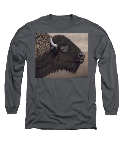 Bison Long Sleeve T-Shirt by Jacqueline Barden