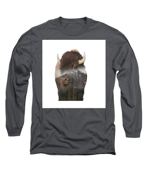 Bison Mountain  Long Sleeve T-Shirt
