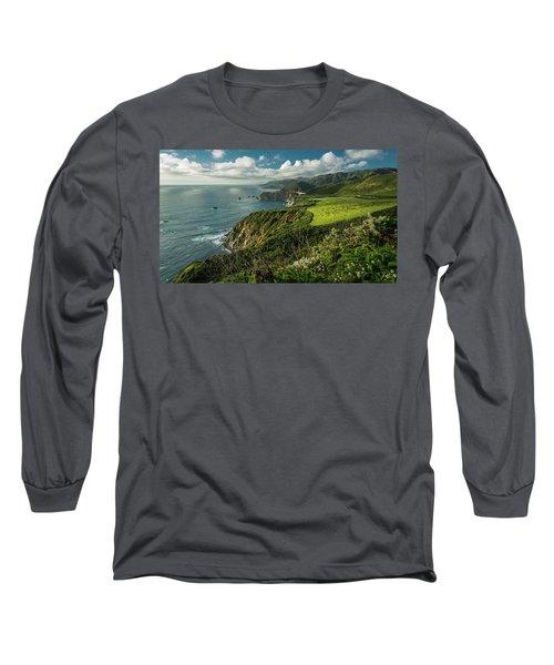 Bixby Bridge On The Coast Long Sleeve T-Shirt
