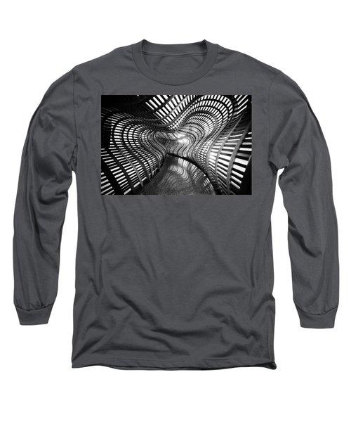 Black Abstract Hall Long Sleeve T-Shirt