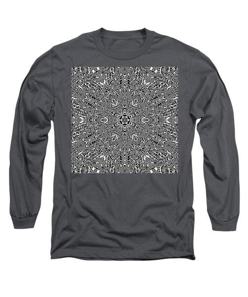 Long Sleeve T-Shirt featuring the digital art Black And  White 24 by Robert Thalmeier