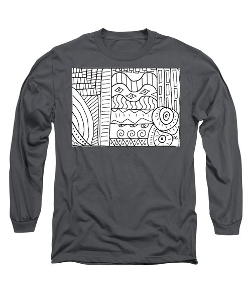 Black And White Abstract  Long Sleeve T-Shirt