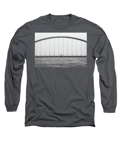 Long Sleeve T-Shirt featuring the photograph Black And White Bridge by MGL Meiklejohn Graphics Licensing