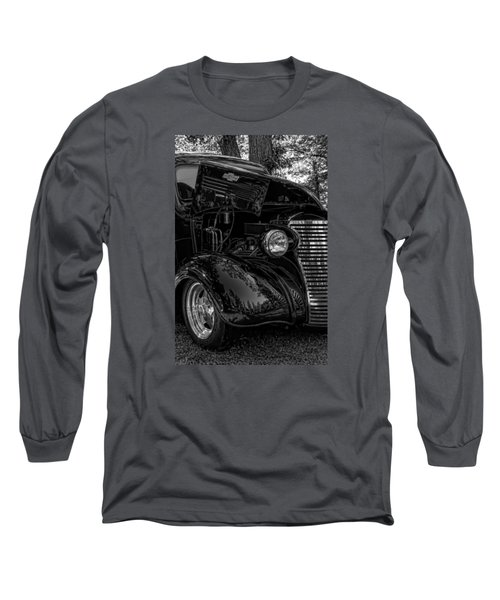 Long Sleeve T-Shirt featuring the photograph Black And White Chevrolet by Trey Foerster