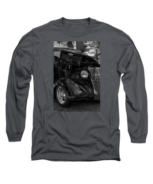 Black And White Chevrolet Long Sleeve T-Shirt