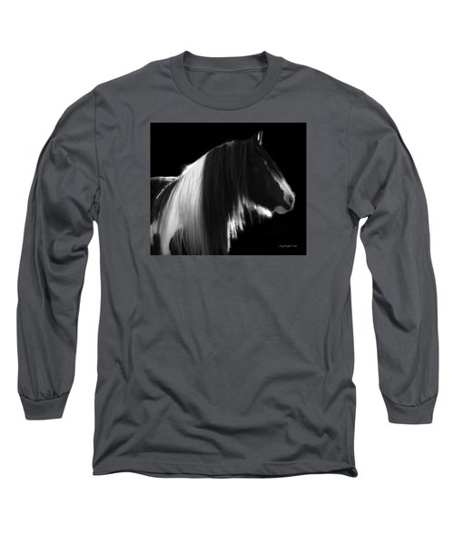 Black And White Mare Long Sleeve T-Shirt