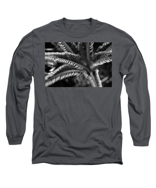 Black And White Palm Abstract 3624 Bw_2 Long Sleeve T-Shirt