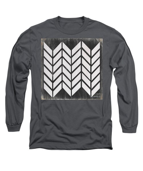 Black And White Quilt Long Sleeve T-Shirt