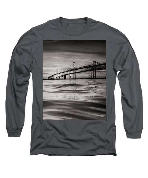Long Sleeve T-Shirt featuring the photograph Black And White Reflections 2 by Jennifer Casey