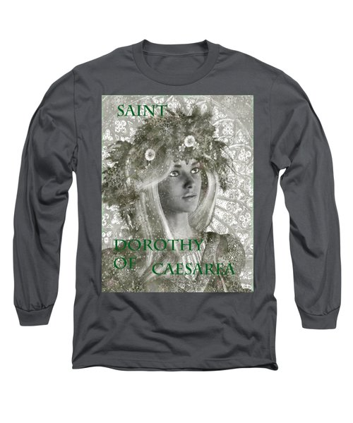 Black And White Saint Dorothy Long Sleeve T-Shirt by Suzanne Silvir