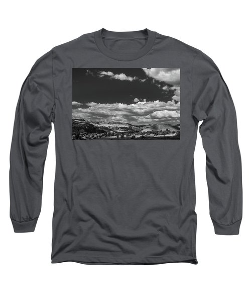 Black And White Small Town  Long Sleeve T-Shirt by Jingjits Photography