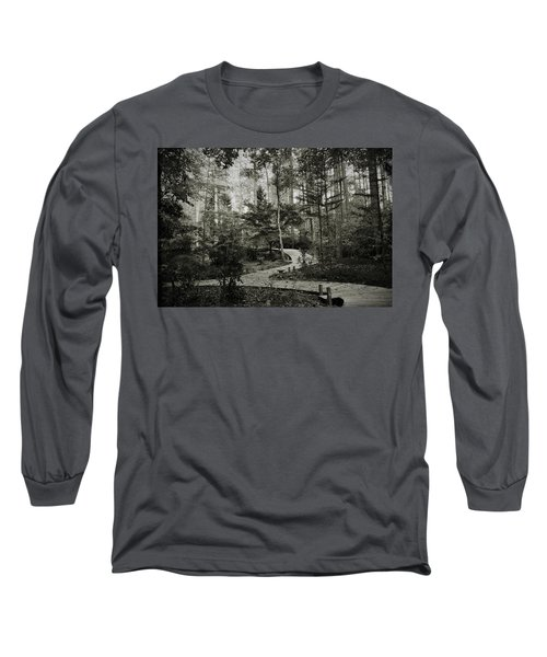 Black And White Vintage Edit -walk In Peace  Long Sleeve T-Shirt