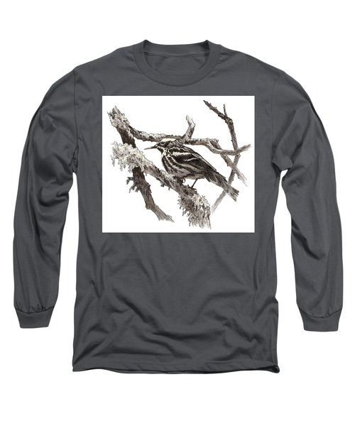 Black-and-white Warbler Long Sleeve T-Shirt