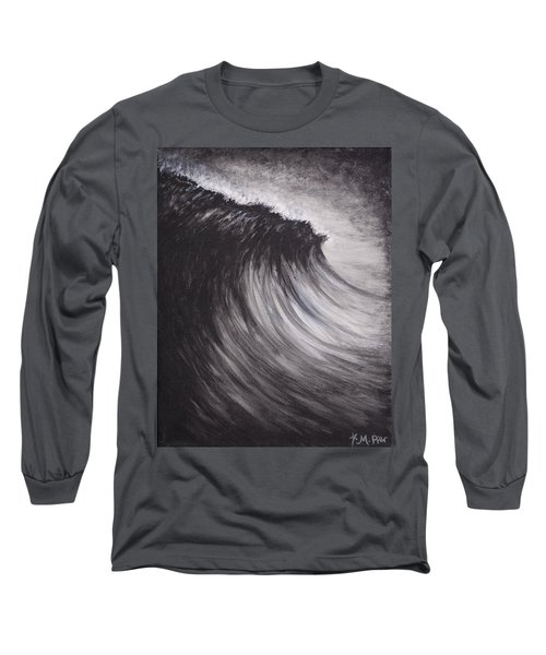 Black And White Wave Guam Long Sleeve T-Shirt