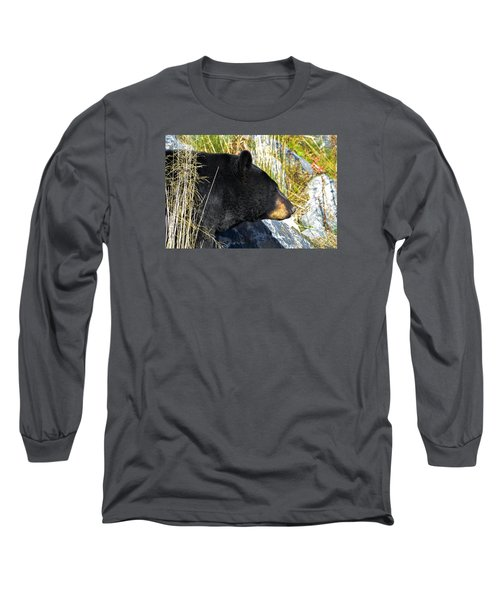 Black Bear Long Sleeve T-Shirt by Brian Stevens