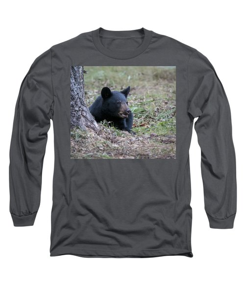 Long Sleeve T-Shirt featuring the photograph Black Bear Resting by Tyson and Kathy Smith