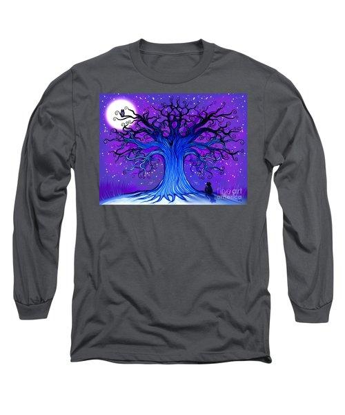 Black Cat And Night Owl Long Sleeve T-Shirt