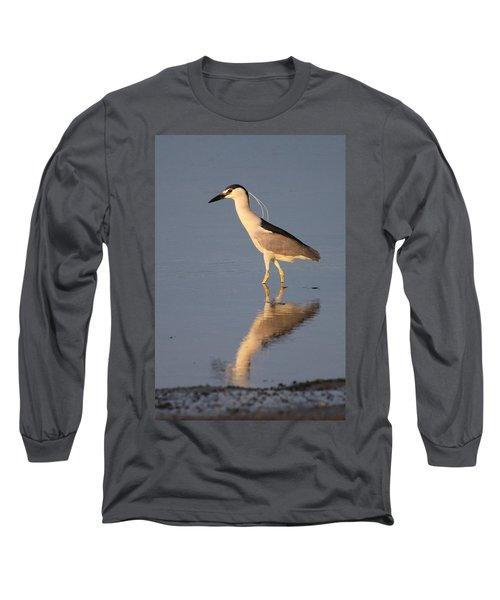 Black Crowned Night Heron Kings Park New York Long Sleeve T-Shirt by Bob Savage