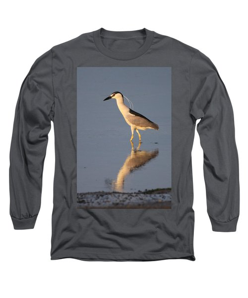 Black Crowned Night Heron Kings Park New York Long Sleeve T-Shirt