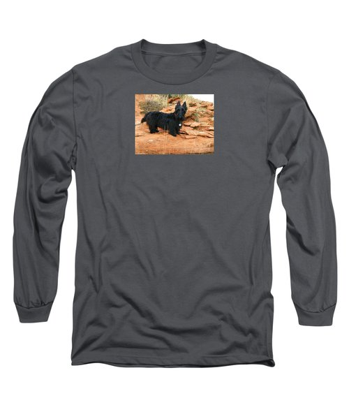 Black Dog Red Rock Long Sleeve T-Shirt by Michele Penner
