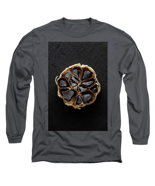 Black Garlic Cross-section Long Sleeve T-Shirt