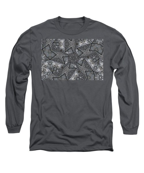Long Sleeve T-Shirt featuring the photograph Black Granite Kaleido #4 by Peter J Sucy