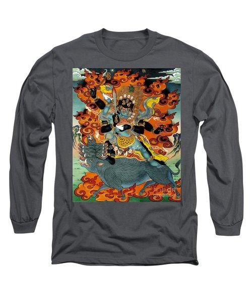 Black Hayagriva Long Sleeve T-Shirt
