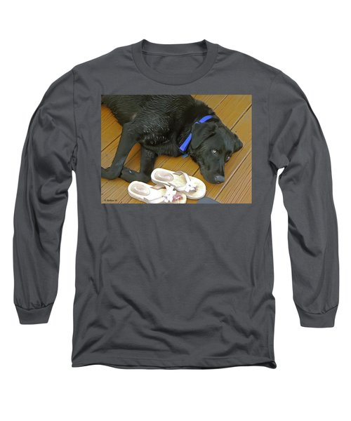 Black Lab Resting Long Sleeve T-Shirt