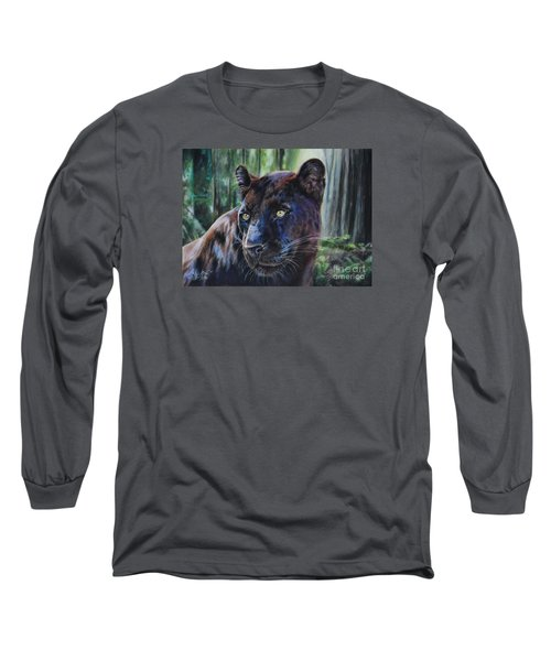 Black Leopard Long Sleeve T-Shirt