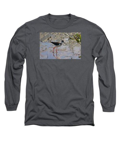 Black Necked Stilt Long Sleeve T-Shirt