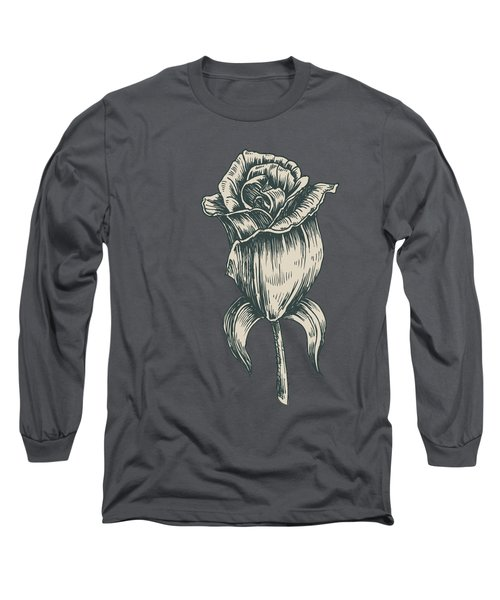 Long Sleeve T-Shirt featuring the digital art Black On Black by ReInVintaged