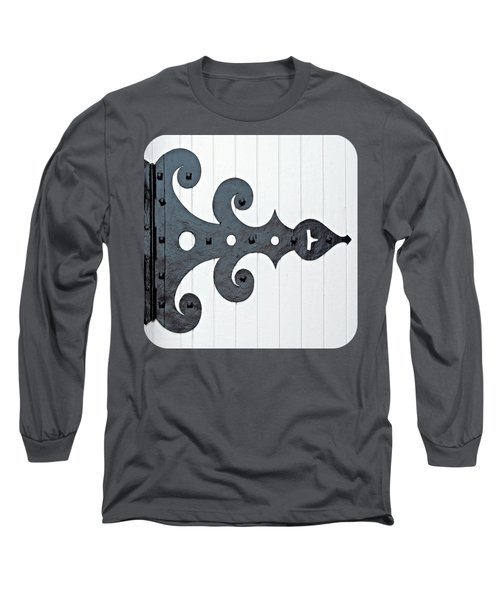 Black On White Long Sleeve T-Shirt by Ethna Gillespie