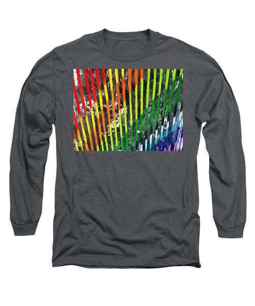 Black Rainbow Long Sleeve T-Shirt