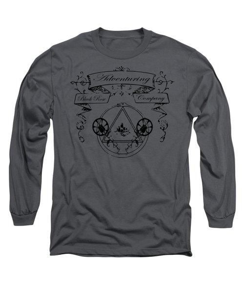 Black Rose Adventuring Co. Long Sleeve T-Shirt by Nyghtcore Studio