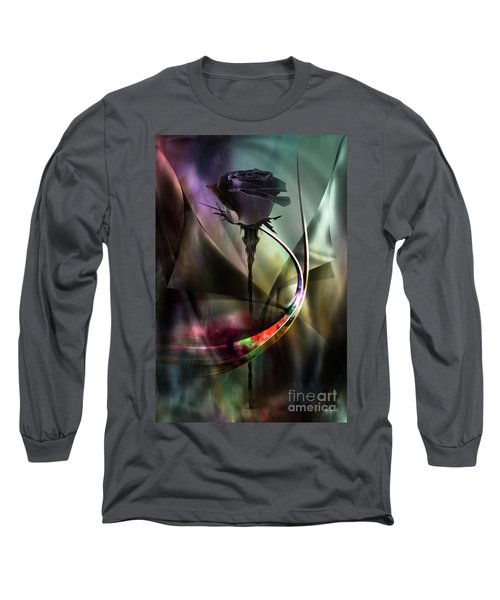 Black Rose In Color Symphony Long Sleeve T-Shirt
