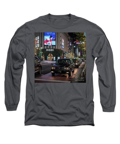 Black Taxi In Tokyo, Japan Long Sleeve T-Shirt