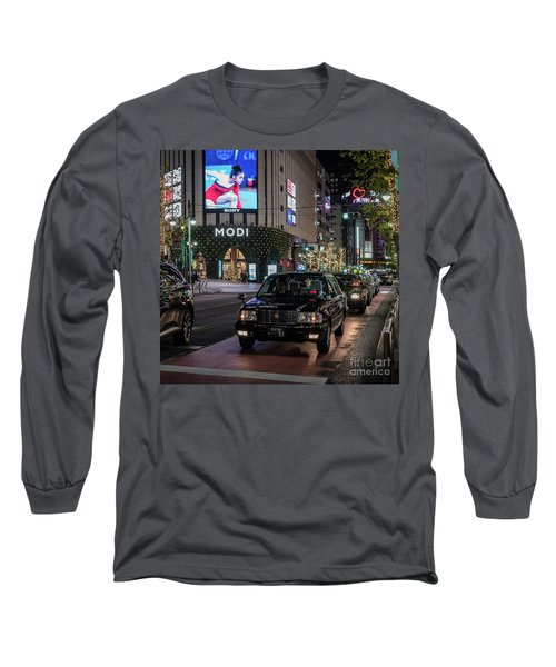 Black Taxi In Tokyo, Japan Long Sleeve T-Shirt
