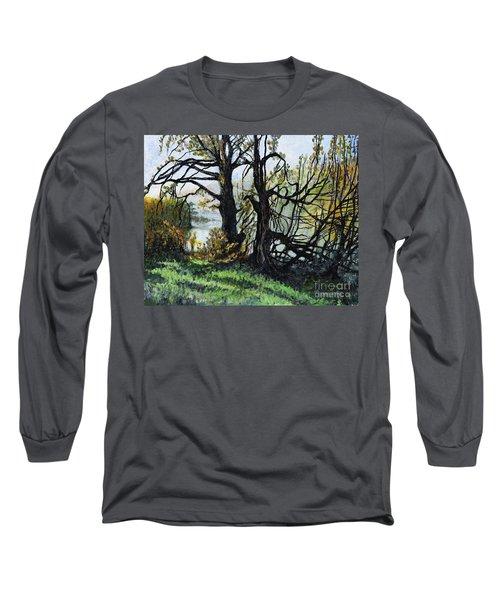 Black Trees Entanglement Long Sleeve T-Shirt