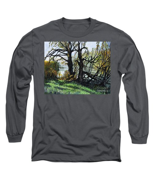 Black Trees Entanglement Long Sleeve T-Shirt