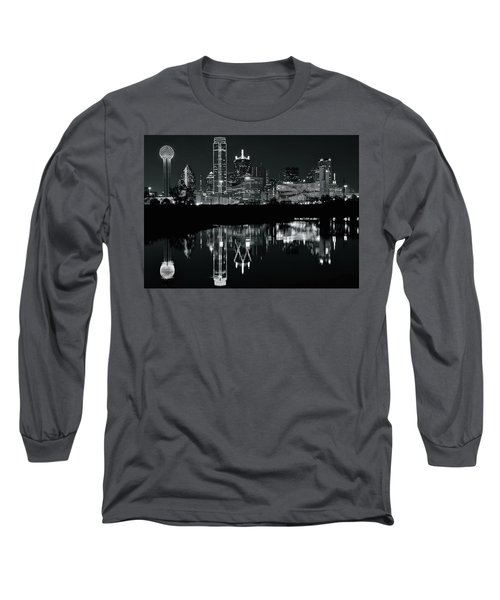 Blackest Night In Big D Long Sleeve T-Shirt by Frozen in Time Fine Art Photography