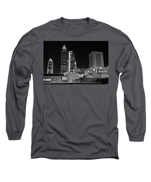 Long Sleeve T-Shirt featuring the photograph Blackest Night In Cle by Frozen in Time Fine Art Photography