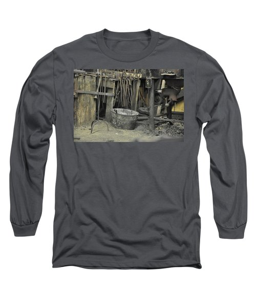 Long Sleeve T-Shirt featuring the photograph Blacksmith's Bucket by Jan Amiss Photography