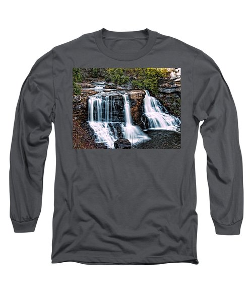 Long Sleeve T-Shirt featuring the photograph Blackwater Falls, West Virginia by Skip Tribby