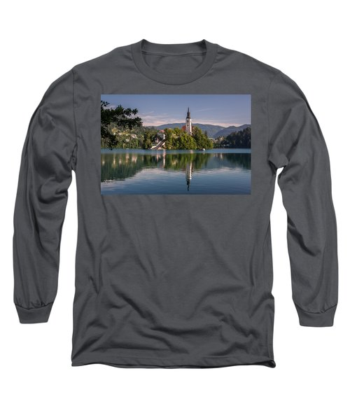 Long Sleeve T-Shirt featuring the photograph Bled by Davorin Mance