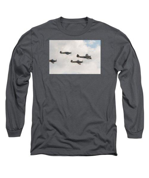 Blenheim And Hurricanes Long Sleeve T-Shirt by Gary Eason
