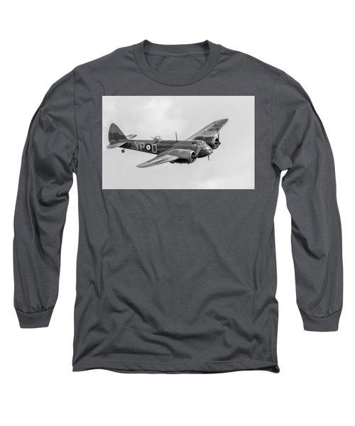 Blenheim Mk I Black And White Version Long Sleeve T-Shirt